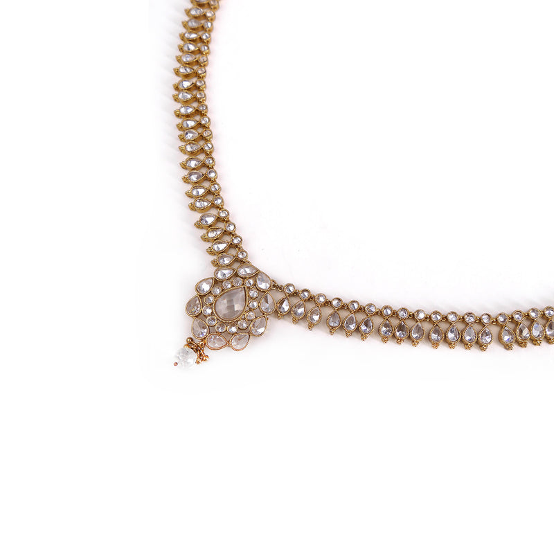Avni Necklace in Antique Gold