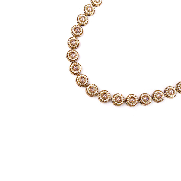Leela Necklace in Champagne