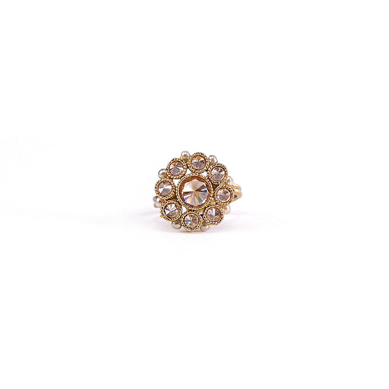Pearl Edged Round Ring