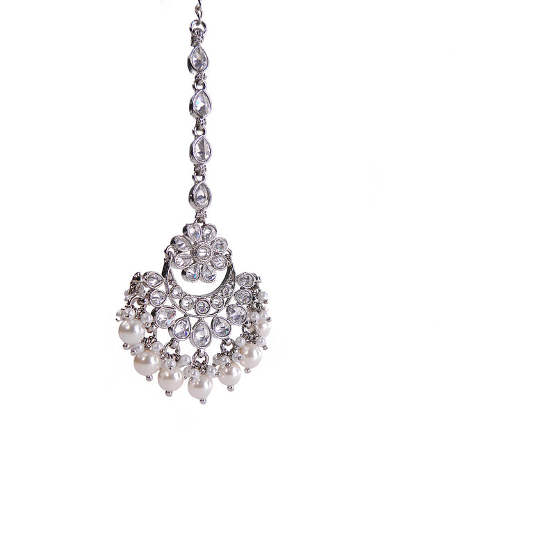 Rhodium Plated Chand Tikka