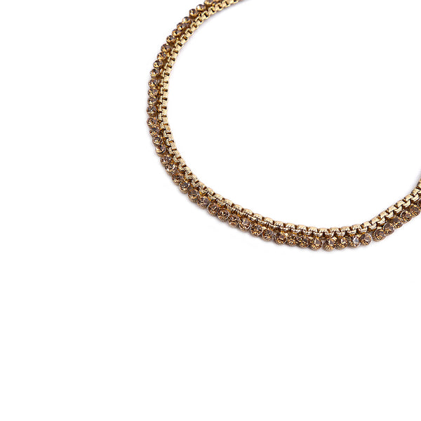 Gold Diamante Anklet