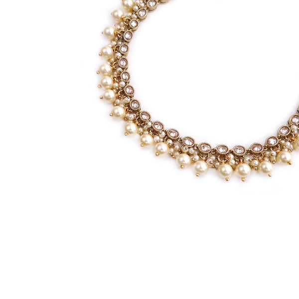 Antique Oval Pearl Anklet