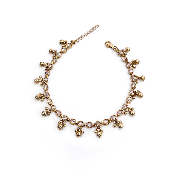 Bell Anklet in Antique Gold