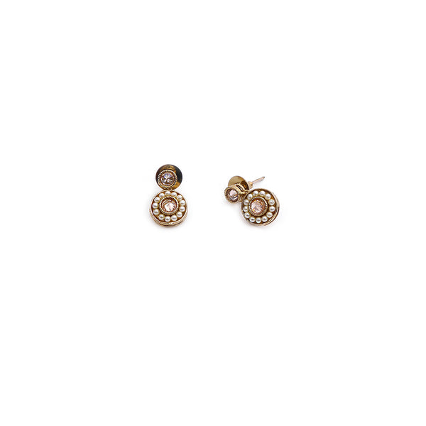 Leela Drop Studs In Champagne