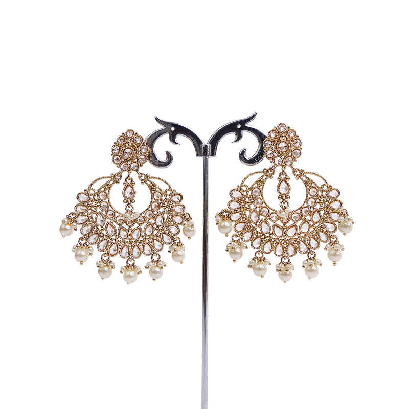 Filigree and Pearl Droplet Earrings