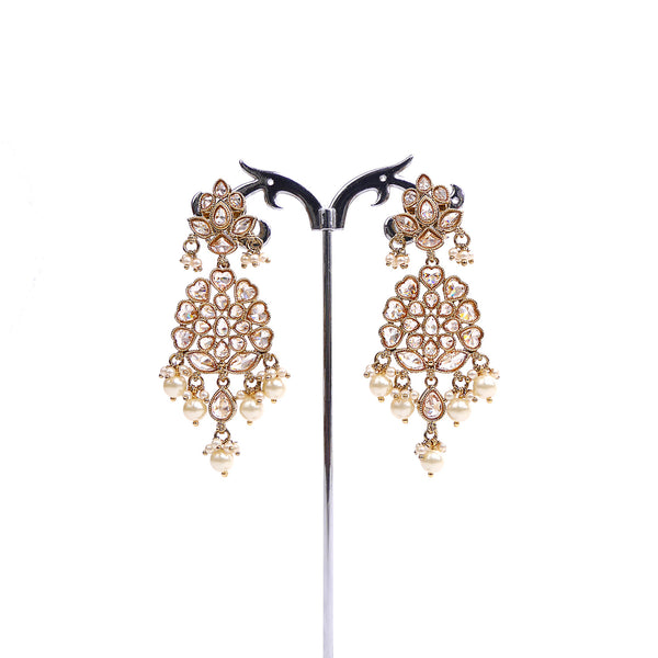 Hearts Antique Long Earrings