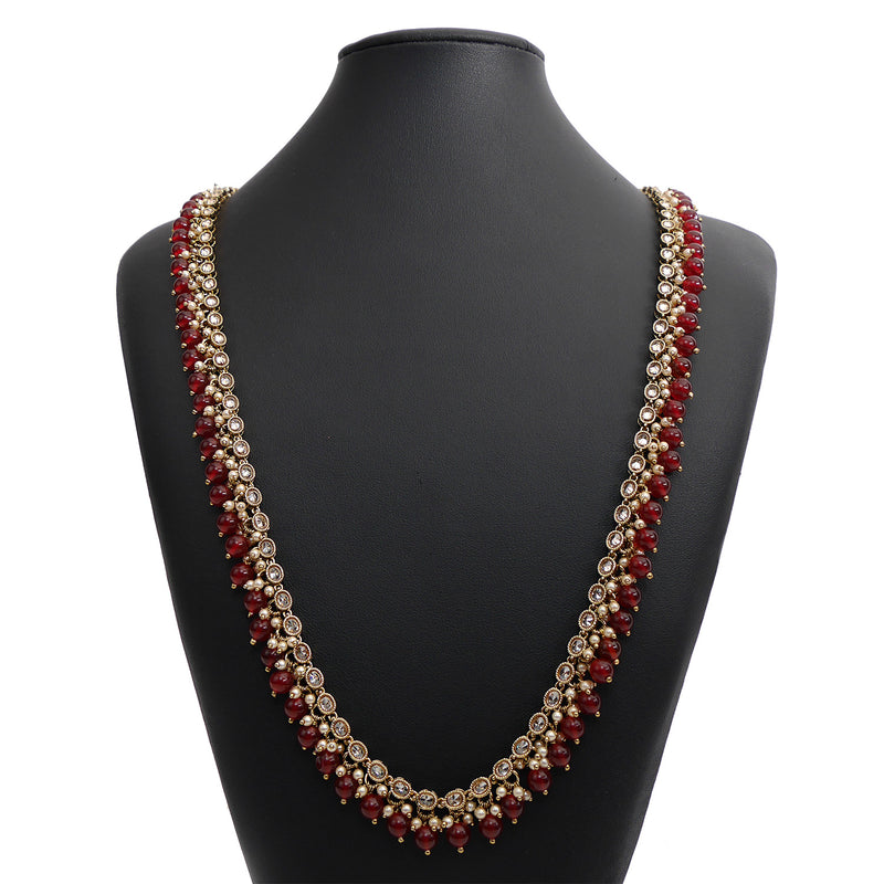 Layla Long Chain in Maroon