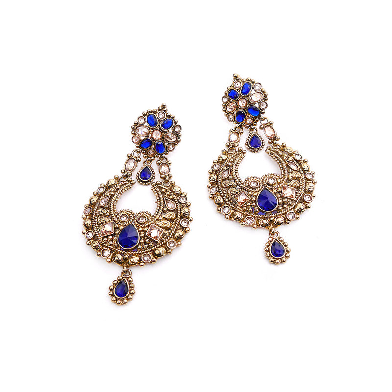 Toran Blue Chandbali Earrings