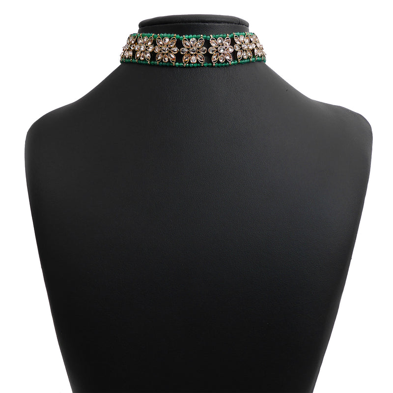 Lotus Choker in Green