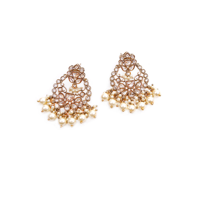 Nora Pearl and Champagne Earrings