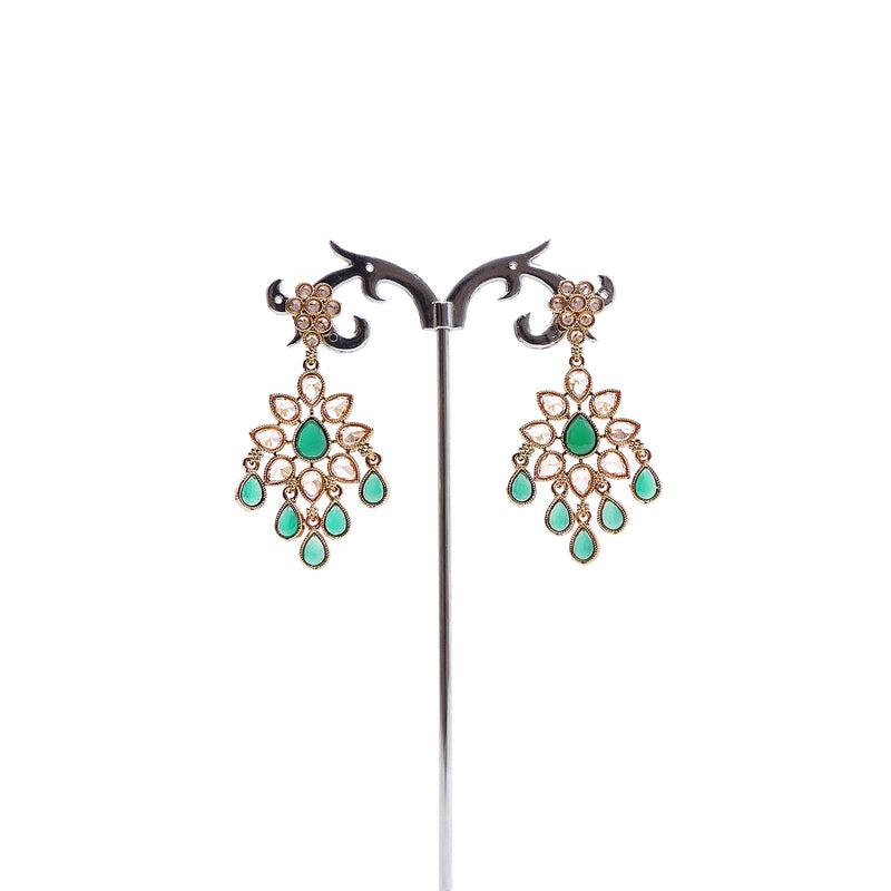 Emerald Antique Earrings