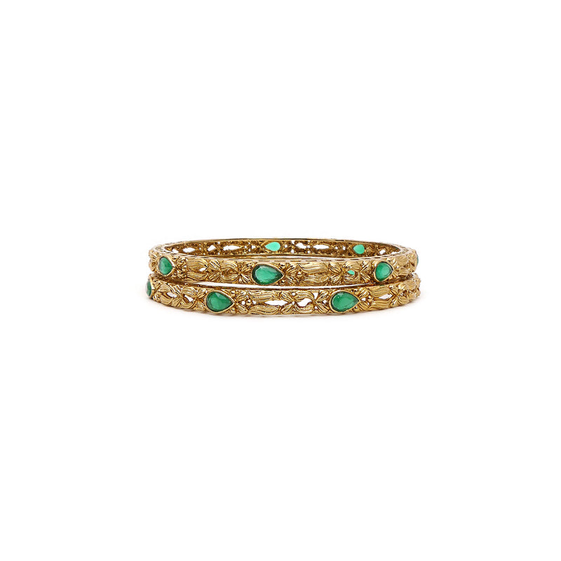 Antique Forest Emerald Bangles