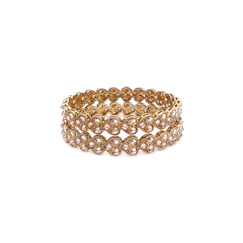 Emilia Antique Gold Bangles