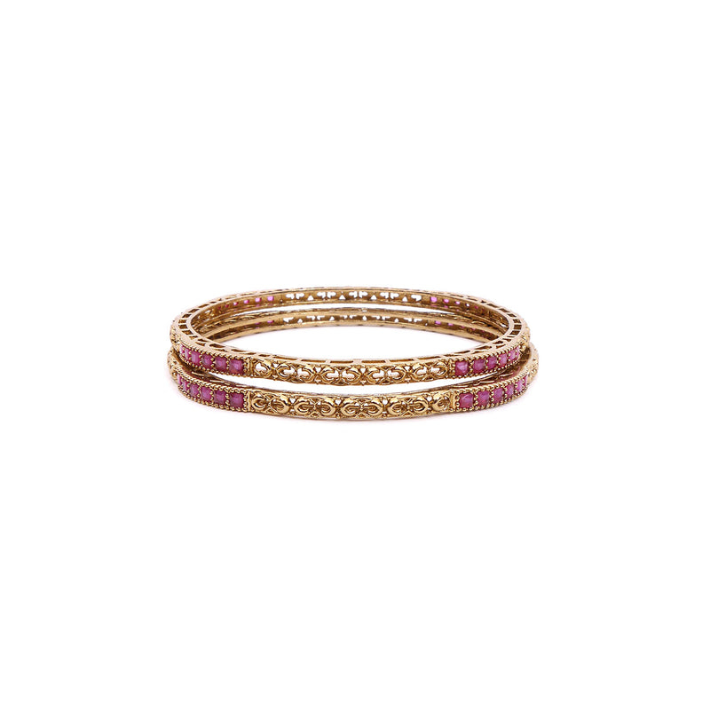 Ruby Edged Antique Bangles