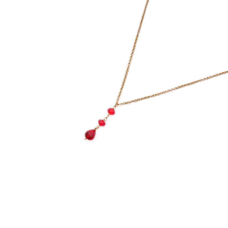 Dewdrop Triple Red Long Chain