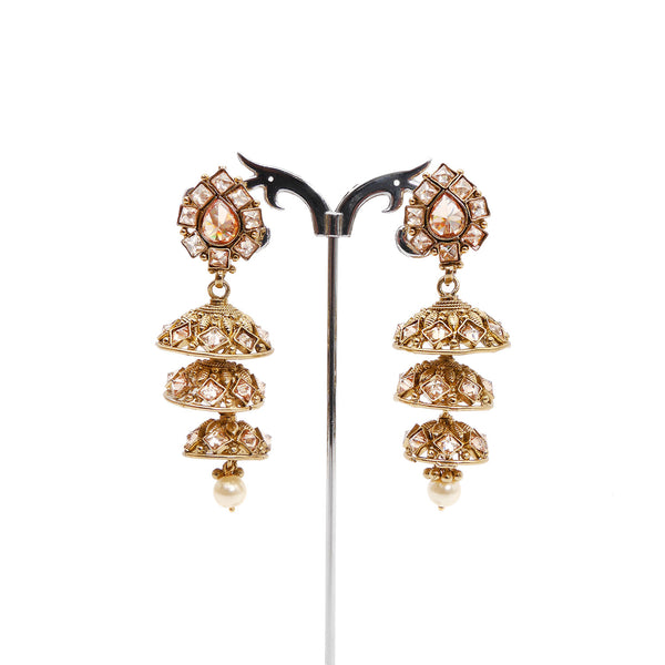 Nila Tiered Jhumka Earrings