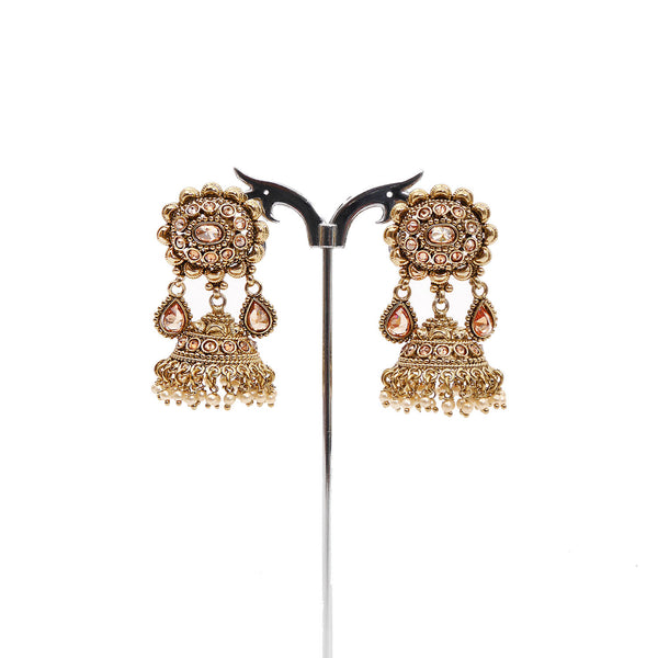 Megha Jhumka Earrings in Pearl