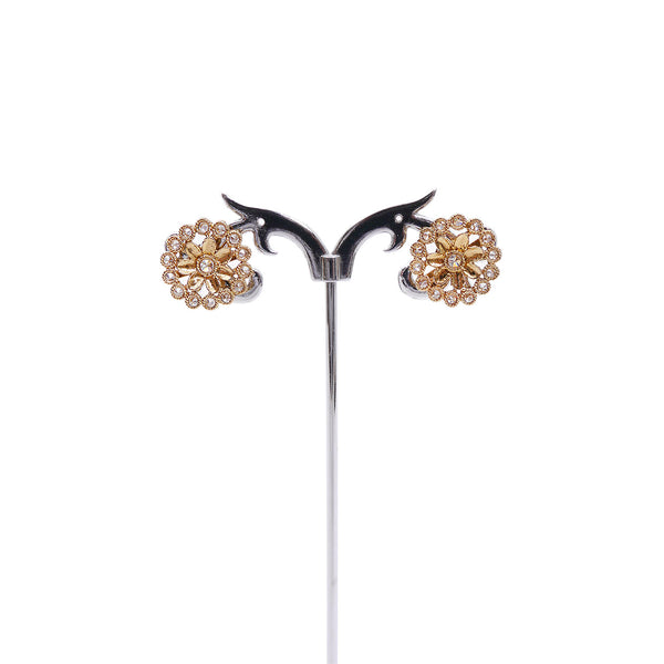 Flora Ear Studs in Antique Gold