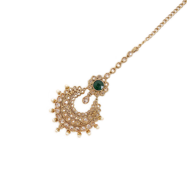 Chand Tikka in Pearl and Green