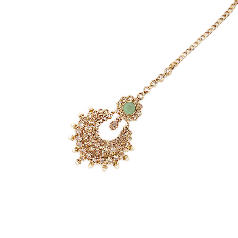 Chand Tikka in Pearl and Mint