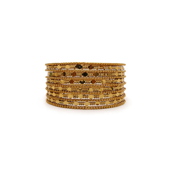 Alana Bohemian Gold Bangle Set