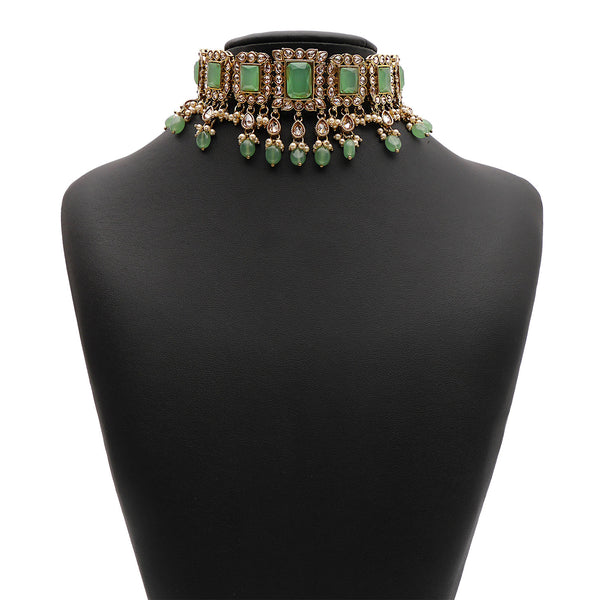 Yashvi Bridal Necklace Set in Mint