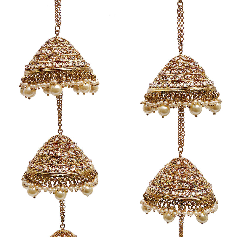 Baani Kalire in Pearl and Antique Gold