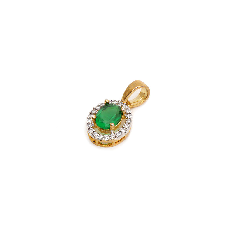 Lola Cubic Zirconia Pendant Set in Green