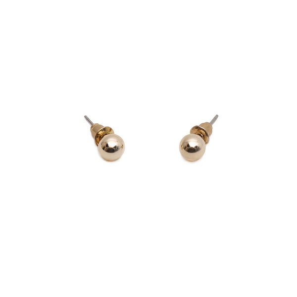 Faye Pearl Studs in Gold