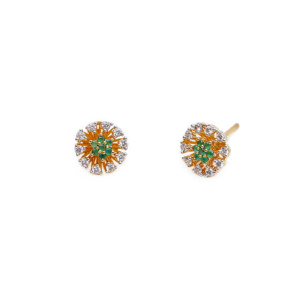 Dalia Cubic Zirconia Studs in Green