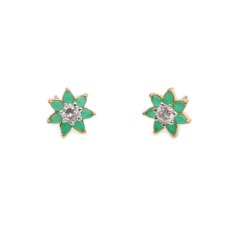 Nevada Cubic Zirconia Studs in Green