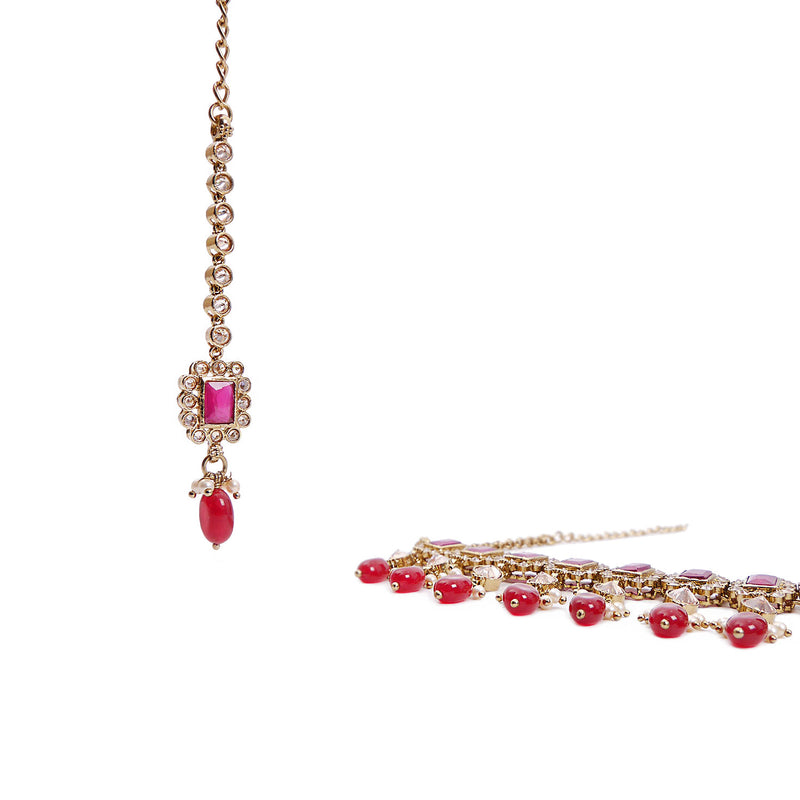 Veda Choker Set in Ruby