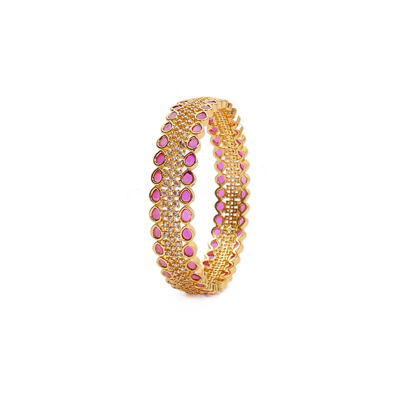 Elora Cubic Zirconia Bangle in Ruby