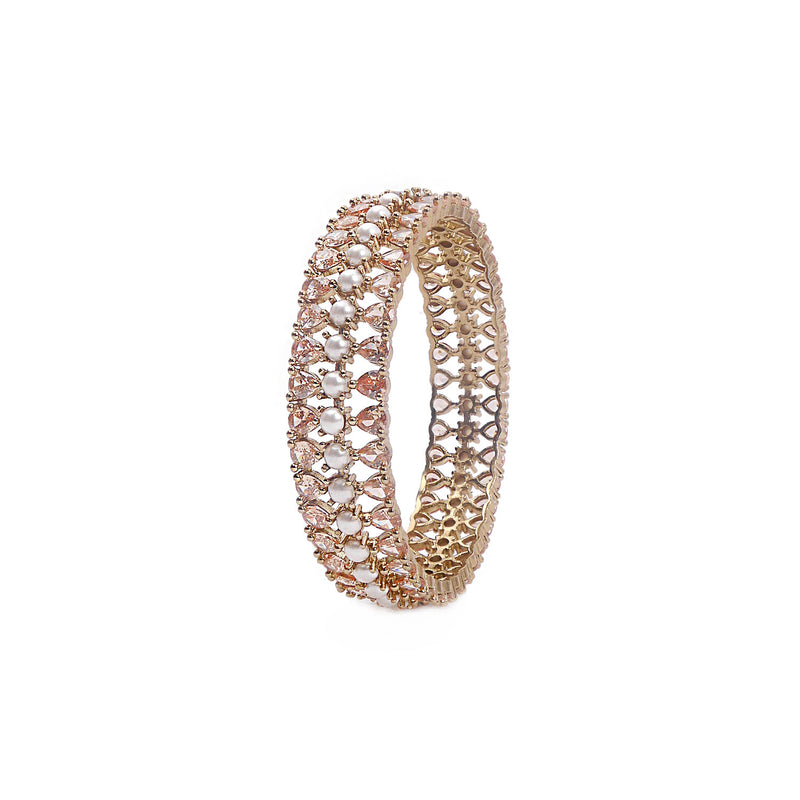 Remi Cubic Zirconia Bangle in Pearl