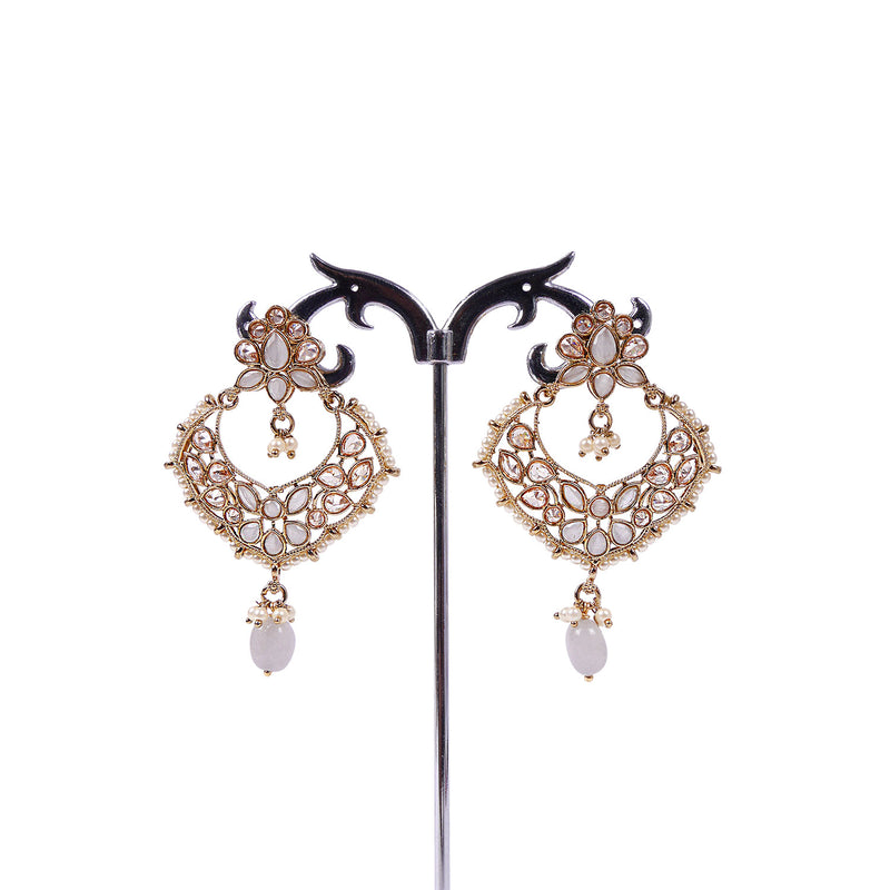 CHANDBALI EARRINGS IN GREY