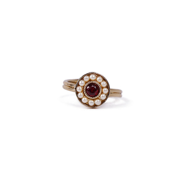 Leela Ring in Maroon