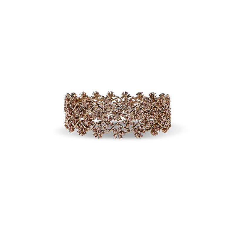 Mahla Cubic Zirconia Bangles in Champagne