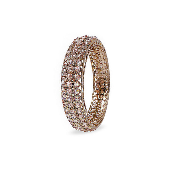 INDIAN BANGLE WITH CHAMPAGNE CRYSTALS