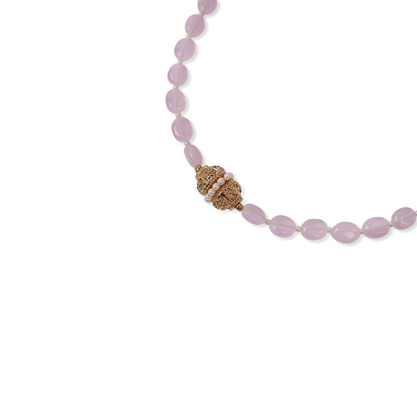 BABY PINK ONYX CRYSTAL NECKLACE
