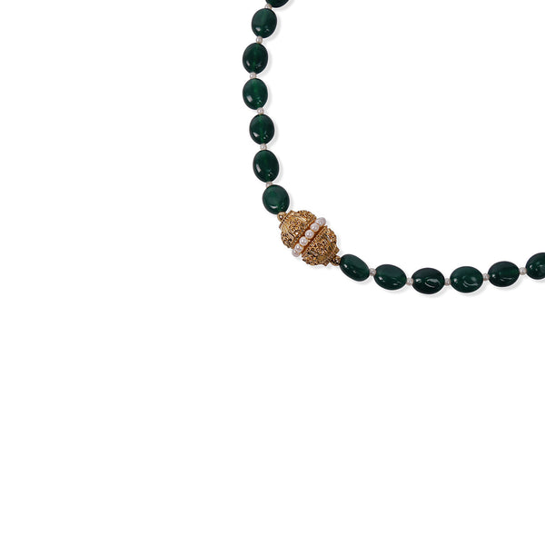 DARK GREEN ONYX CRYSTAL NECKLACE