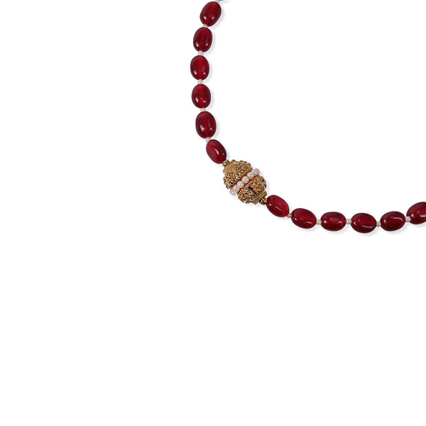 DARK RED ONYX CRYSTAL NECKLACE