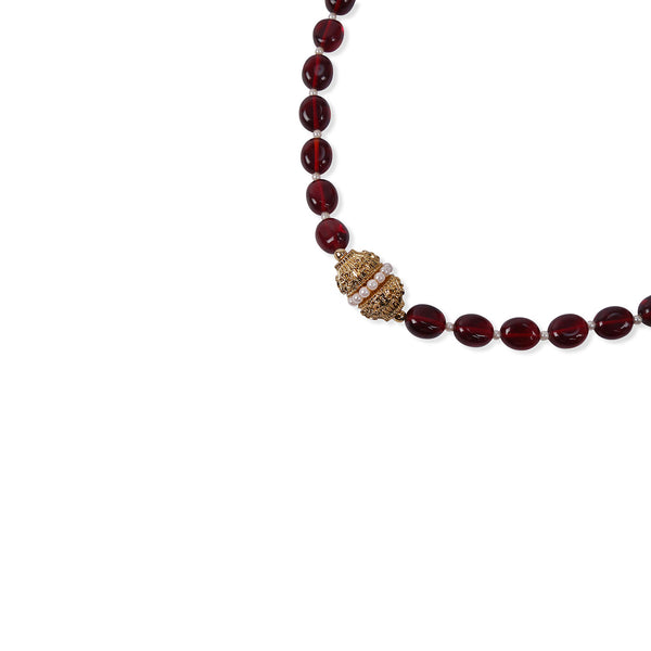 MAROON ONYX CRYSTAL NECKLACE
