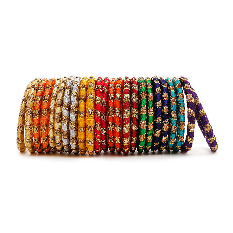 Assorted Thick Thread Bangles