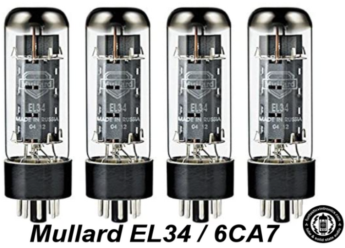 Mullard Platinum Factory Matched QUAD EL-34 EL34 6CA7 tubes