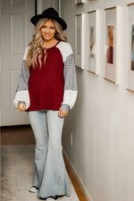 Everyday babe ribbed bubble sleeve top