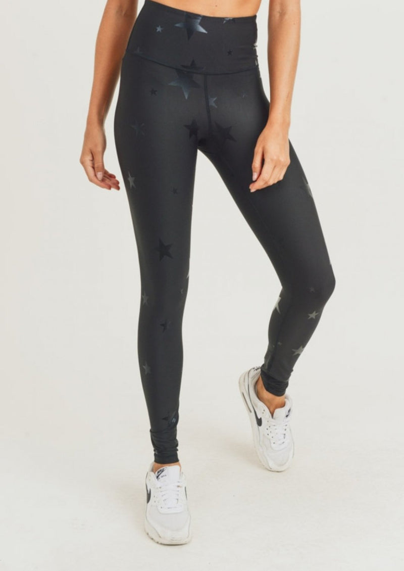 PLUS Foil Star Leggings