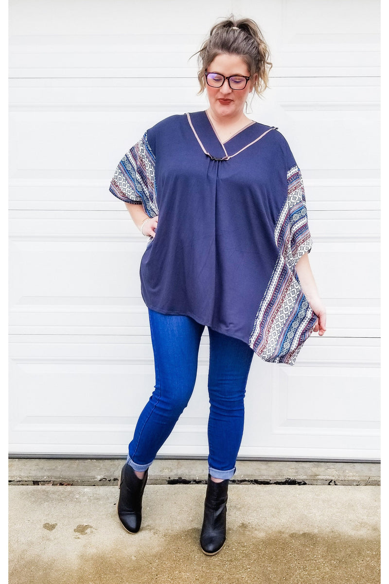 The Vibe Tribe Poncho Top