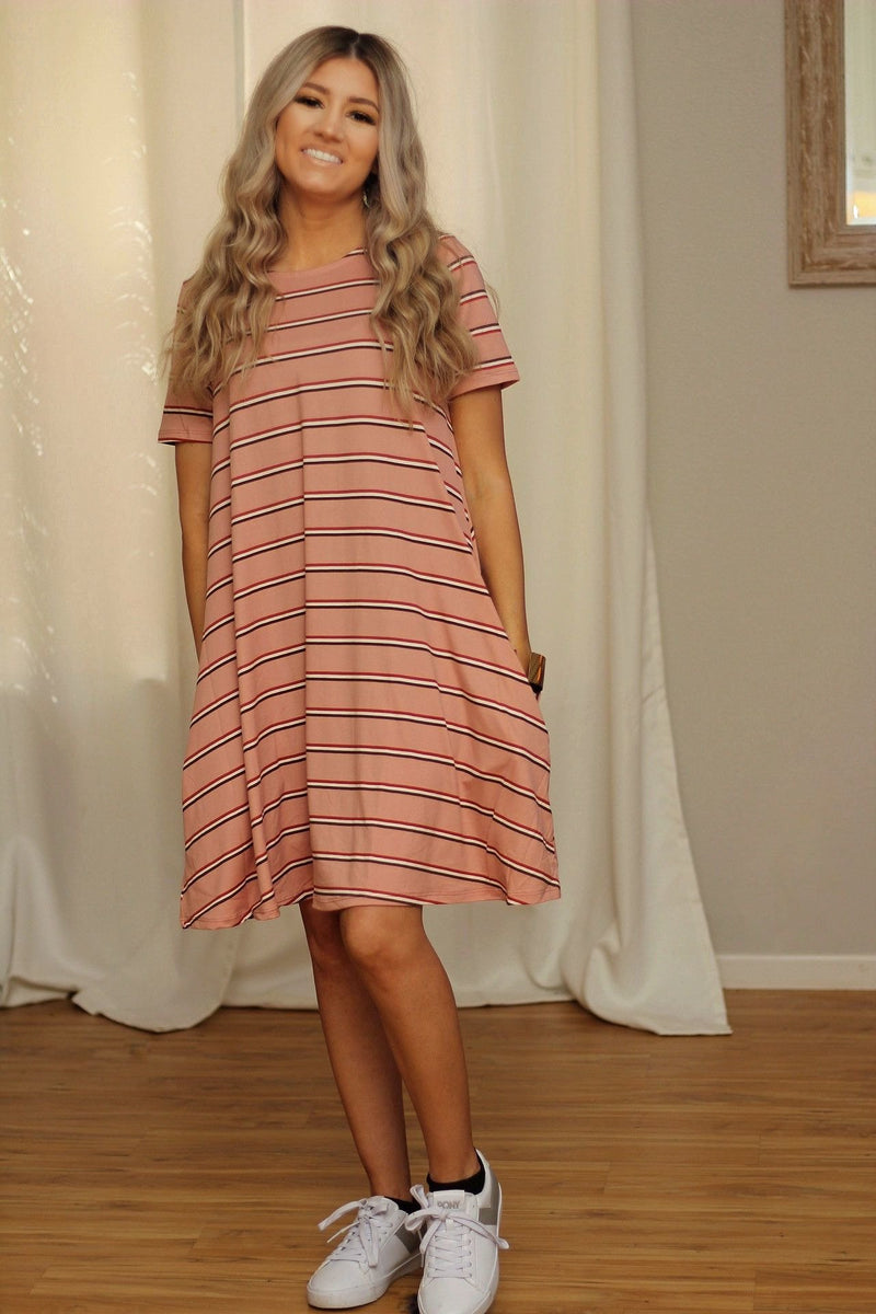 Easy breezy striped swing dress