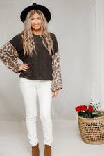 You've been spotted leopard sleeve top