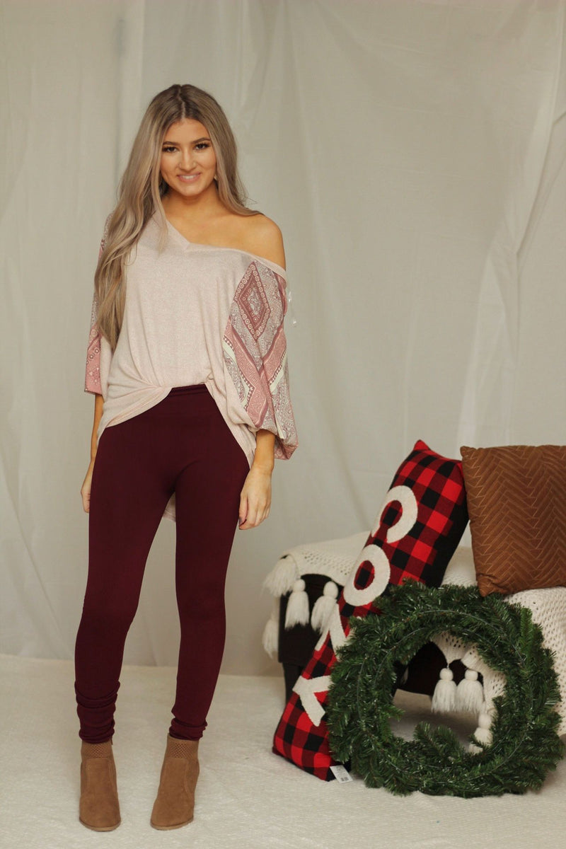 Don't make me blush dolman sleeve top
